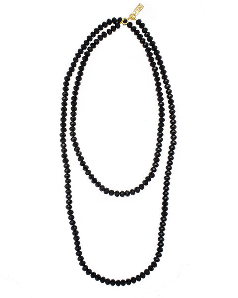MULTI-LAYER STATEMENT NECKLACE (BLACK)