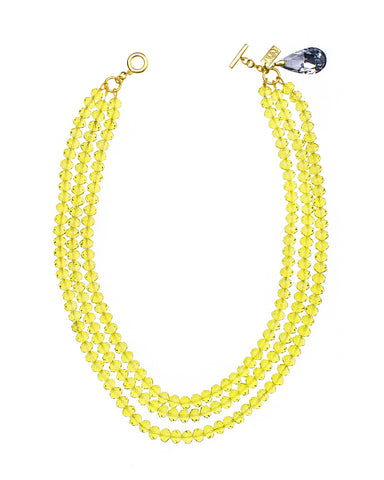 EVERYDAY SUMMER CHIC STATEMENT NECKLACE (CHARTREUSE)
