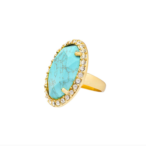 MEDITERRANEAN GLAMOUR STATEMENT RING