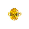 OVAL OPULENCE STATEMENT RING (YELLOW)