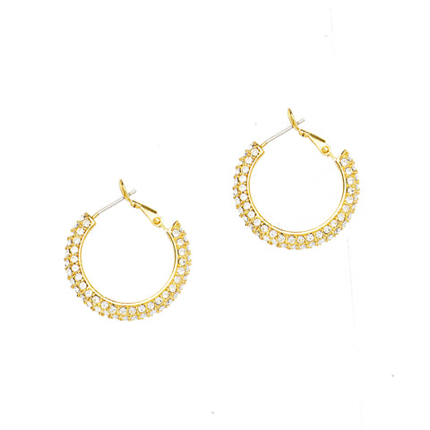 DAZZLING NIGHTS STATEMENT EARRINGS (GOLD)