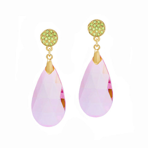 GO GLAM STATEMENT EARRINGS (LIGHT PINK)
