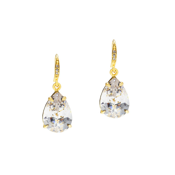 TOUCH OF SPARKLE STATEMENT EARRINGS (CLEAR)