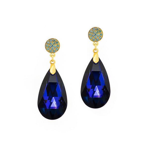 GO GLAM STATEMENT EARRINGS (SAPPHIRE)