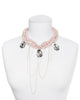 CRYSTAL CASCADE STATEMENT NECKLACE (LIGHT PINK)