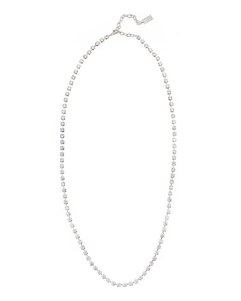 EVERYDAY GLAMOUR STATEMENT NECKLACE (SILVER/CLEAR)