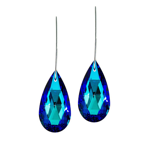AZURE GLAMOUR STATEMENT EARRINGS