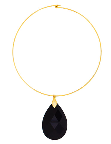 CLASSIC COLLAR STATEMENT NECKLACE (BLACK)