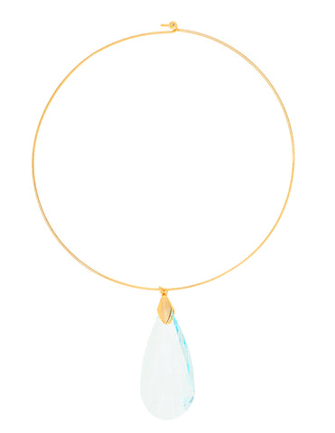 CLASSIC COLLAR STATEMENT NECKLACE (LIGHT BLUE)