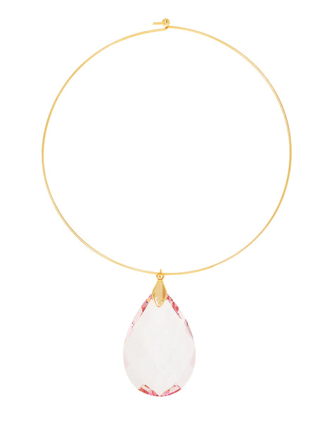 CLASSIC COLLAR STATEMENT NECKLACE (LIGHT PINK)