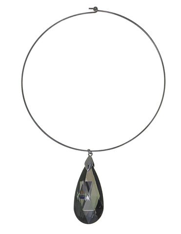 CLASSIC COLLAR STATEMENT NECKLACE (CHROMIUM)