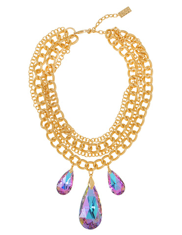 GO GLAM HOLIDAY STATEMENT NECKLACE (VITRAIL)