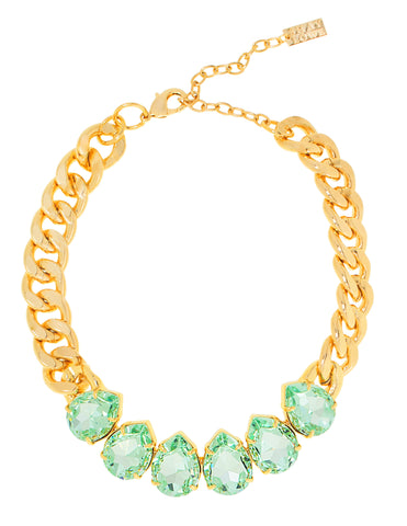 POWER DROP STATEMENT NECKLACE (MINT)