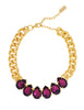 POWER DROP STATEMENT NECKLACE (AMETHYST)