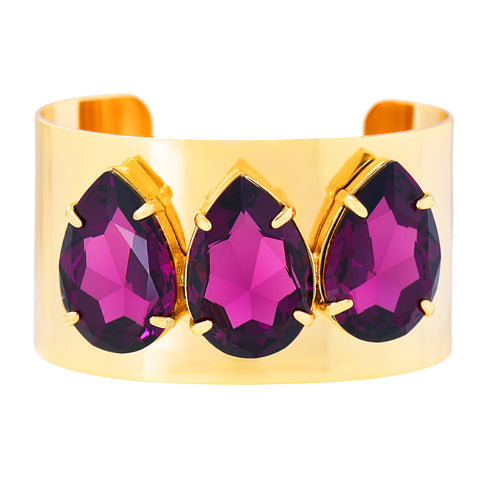 POWER DROP STATEMENT CUFF (AMETHYST)