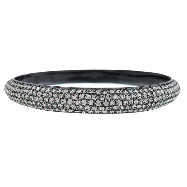 PAVE PRINCESS STATEMENT BANGLE (BLACK DIAMOND)