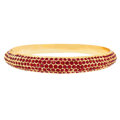 PAVE PRINCESS STATEMENT BANGLE (SIAM)