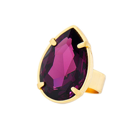TOUCH OF CLASS STATEMENT RING (AMETHYST)