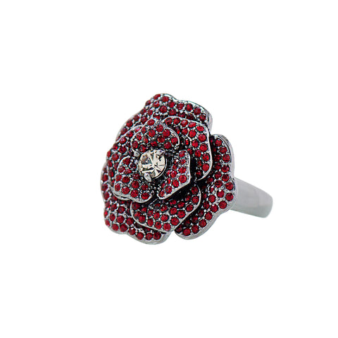 OPULENT ROSE STATEMENT RING (SIAM)