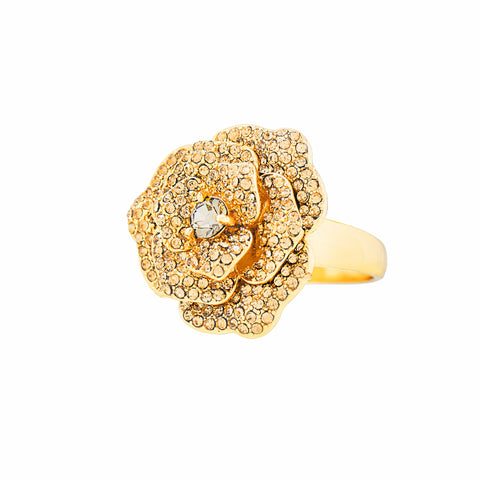 OPULENT ROSE STATEMENT RING (BLACK DIAMOND)