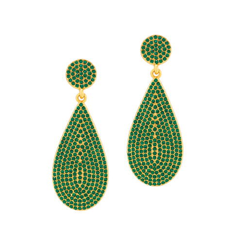 ON HOLIDAY GLAMOUR STATEMENT EARRINGS (EMERALD)