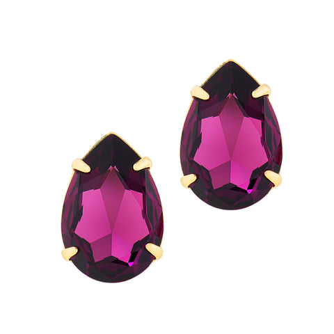 POWER DROP STATEMENT EARRINGS (AMETHYST)