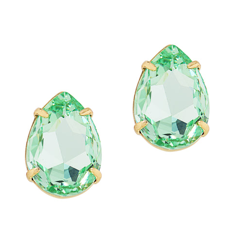 POWER DROP STATEMENT EARRINGS (MINT)