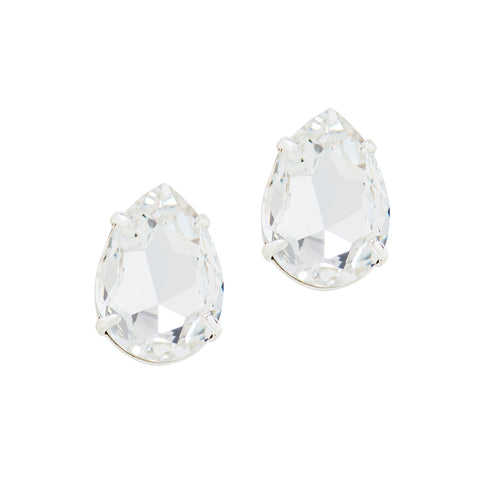 POWER DROP STATEMENT EARRINGS (CLEAR)