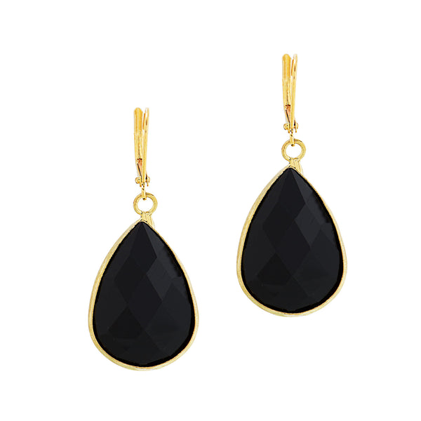 HOLIDAY KISS STATEMENT EARRINGS (BLACK)