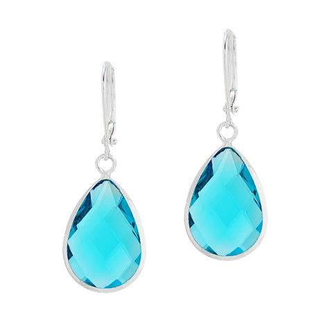 HOLIDAY KISS STATEMENT EARRINGS (TURQUOISE)