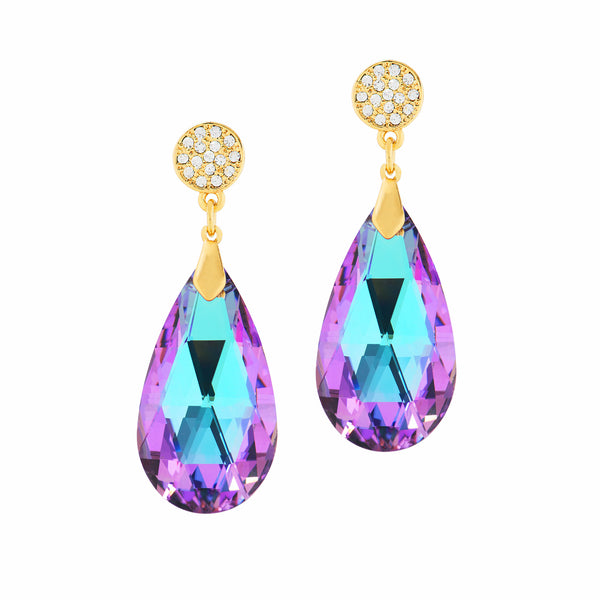 GO GLAM HOLIDAY STATEMENT EARRINGS (VITRAIL)