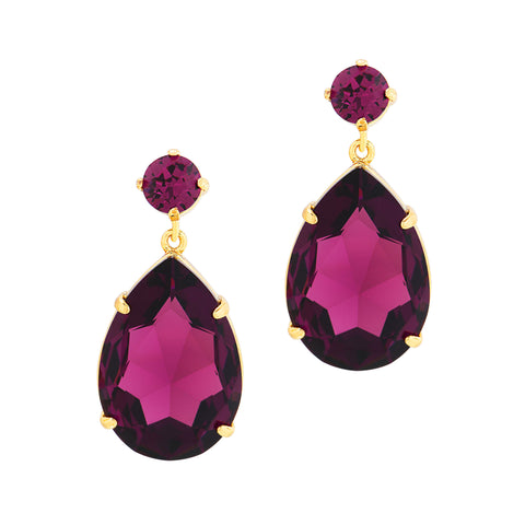 OPULENT GLAMOUR STATEMENT EARRINGS (AMETHYST)