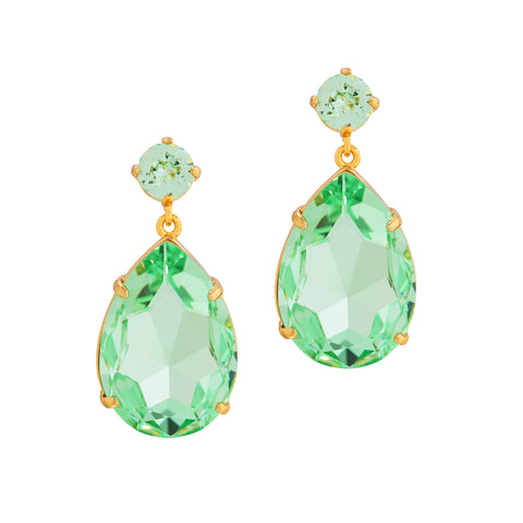 OPULENT GLAMOUR STATEMENT EARRINGS (MINT)