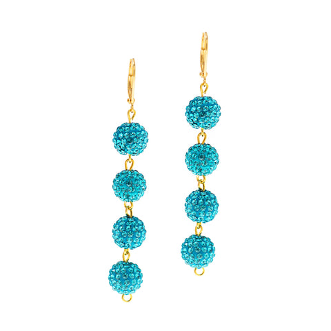 MODERN SUMMER STATEMENT EARRINGS (TURQUOISE)