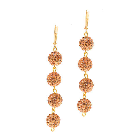 MODERN SUMMER STATEMENT EARRINGS (PEACH)