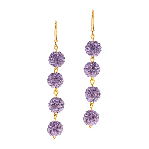 MODERN SUMMER STATEMENT EARRINGS (LAVENDER)