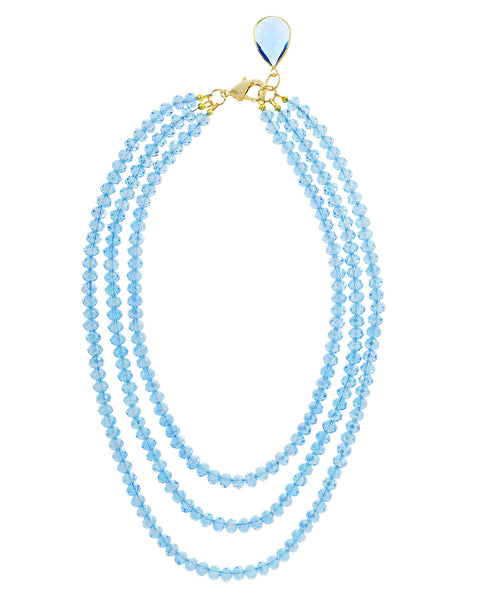 BLUE SKY GLAMOUR STATEMENT NECKLACE