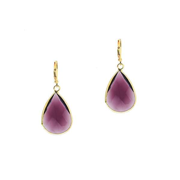 HOLIDAY KISS STATEMENT EARRINGS (AMETHYST)