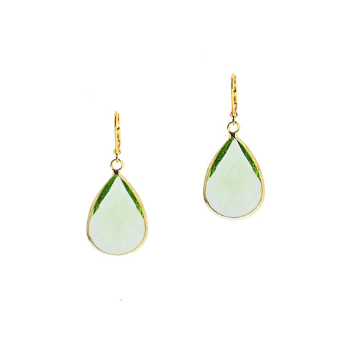 HOLIDAY KISS STATEMENT EARRINGS (MINT)