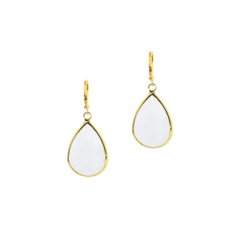 HOLIDAY KISS STATEMENT EARRINGS (CLEAR)