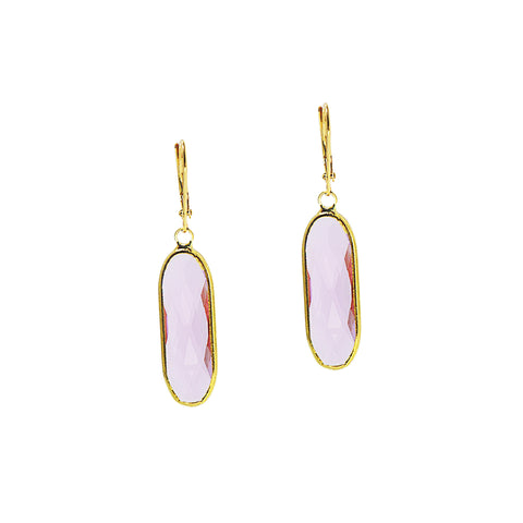 SPRING BLOOM STATEMENT EARRINGS (GOLD/PINK)