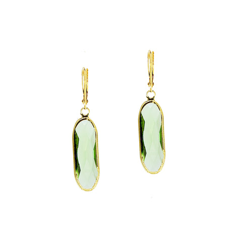 SPRING BLOOM STATEMENT EARRINGS (GOLD/MINT)