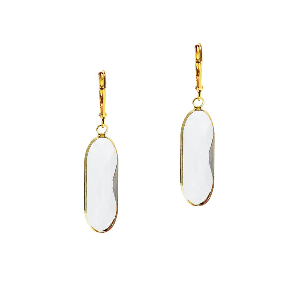 SPRING BLOOM STATEMENT EARRINGS (GOLD/CLEAR)