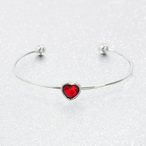 TOUCHED BY LOVE STATEMENT BRACELET (SILVER)