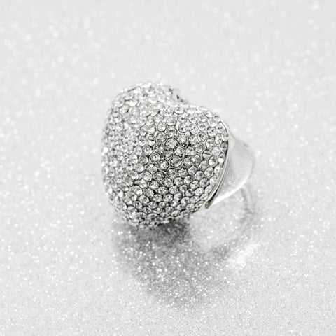 BIG LOVE STATEMENT RING (SILVER)