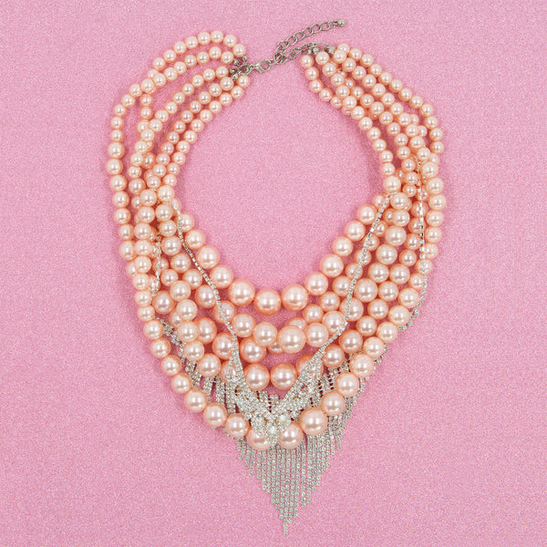 ULTIMATE LOVE STATEMENT NECKLACE (PINK)