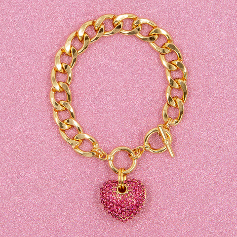 BIG LOVE STATEMENT BRACELET (PINK)