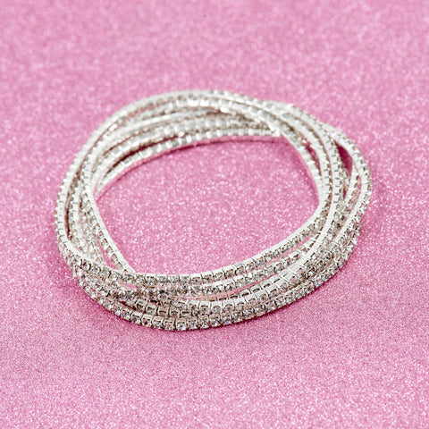 SWEET LOVE STATEMENT BRACELET (SILVER)