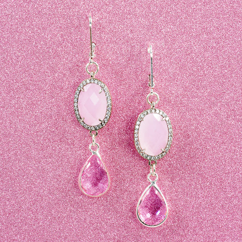 LA VIE EN ROSE STATEMENT EARRINGS