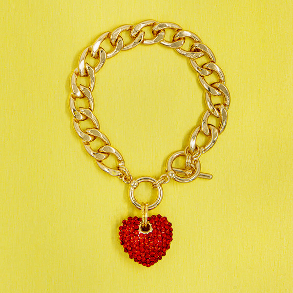 BIG LOVE STATEMENT BRACELET (RED)